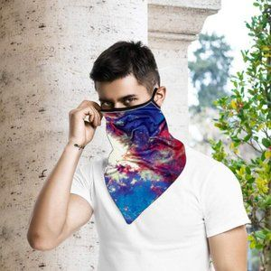 face mask Accessories - Tie Dye Galaxy Mask Scarf